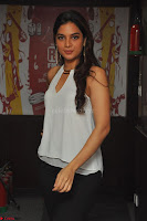 Tanya Hope in a whtie shirt and leggings at Song launch of Movie Patel Sir ~  Exclusive Celebrities Galleries 009.JPG