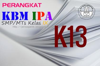 Download Perangkat KBM IPA SMP/MTs Kelas IX K-13