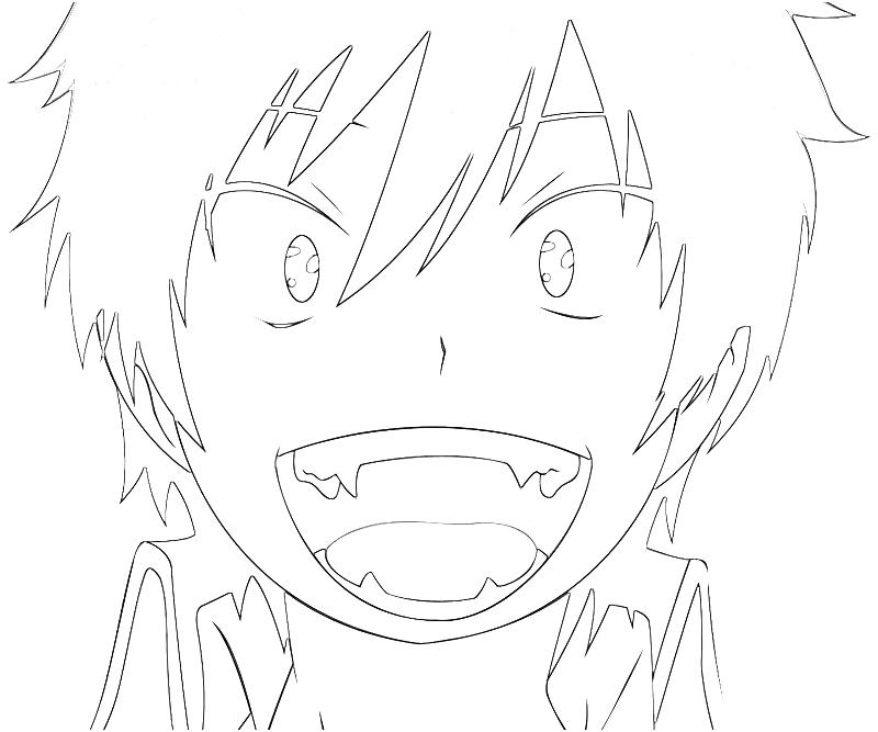 Blue Exorcist Anime Coloring Pages Coloring Pages