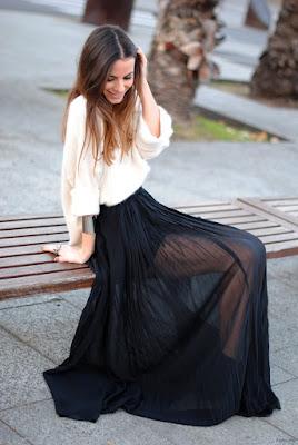 Faldas Largas de Gasa