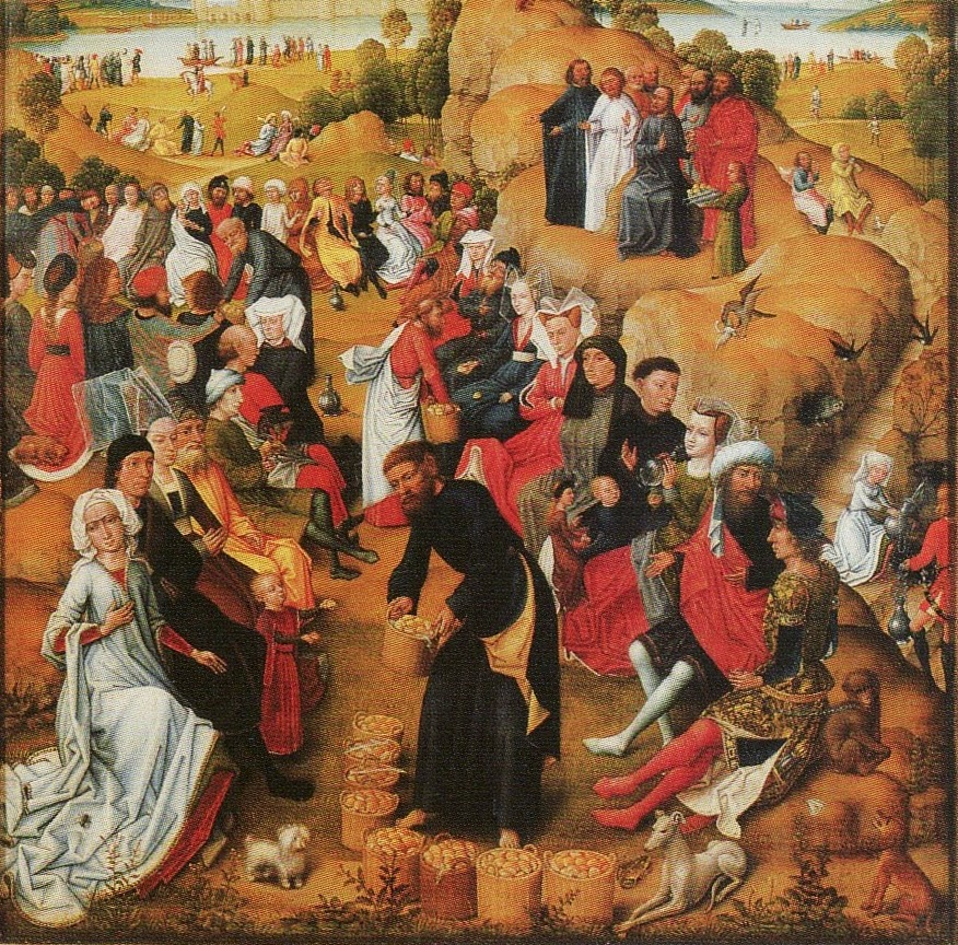 Feeding of the Five Thousand Flemish Altarboard