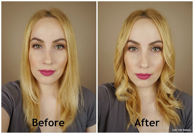 Biosilk 1.5 inch titanium curling iron review before and after