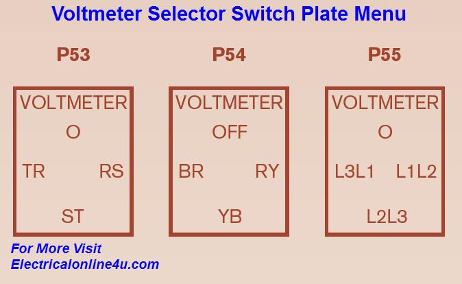 Wiring Diagram Selector Switch : Voltmeter selector switch wiring diagram for three phase