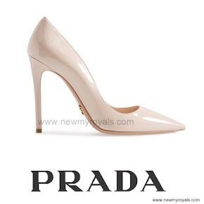 Queen Letizia wore Prada Shoes