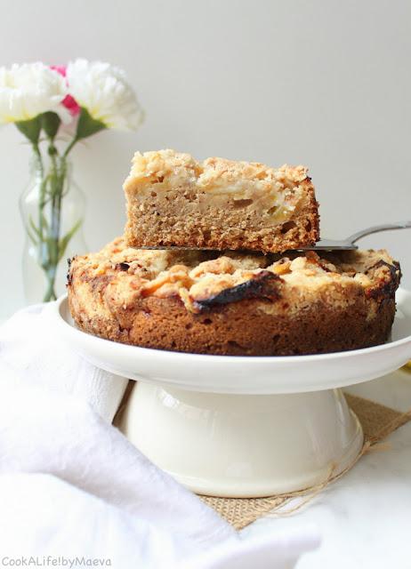 Irish Apple Cake ou le gâteau irlandais aux pommes pour la Saint Patrick  (vegan)