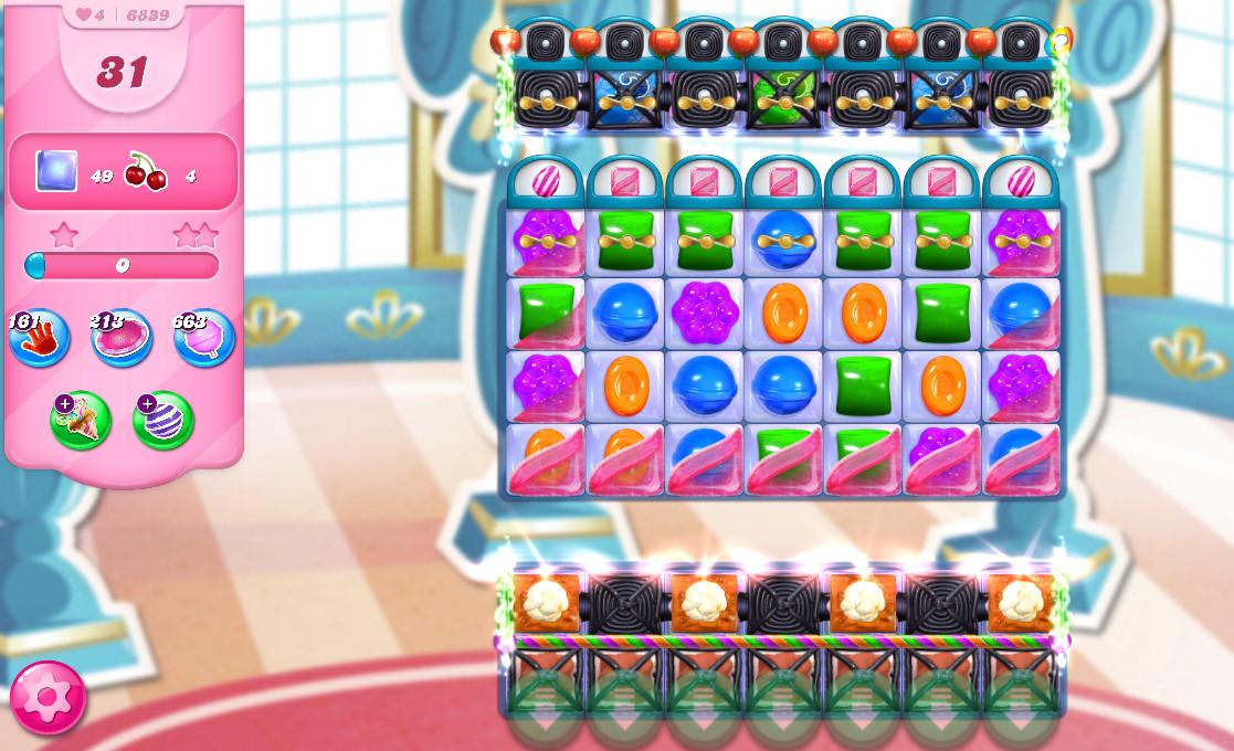 Candy Crush Saga level 6839