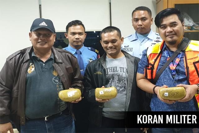 TNI AU Berhasil Gagalkan Penyelundupan Sabu Seberat 2,6 KG
