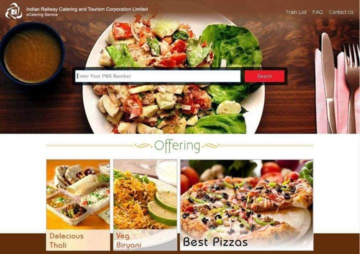 irctc e-catering services