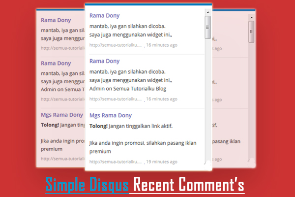 Cara Membuat Simple Disqus Recent Comments di Blogger