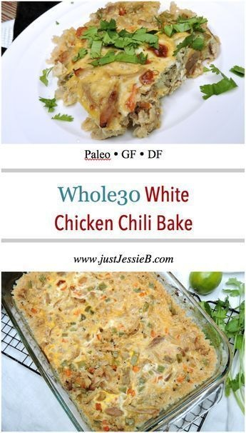 White Chicken Chili Bake