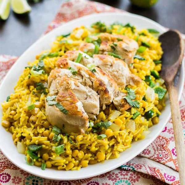 arroz poblano receta