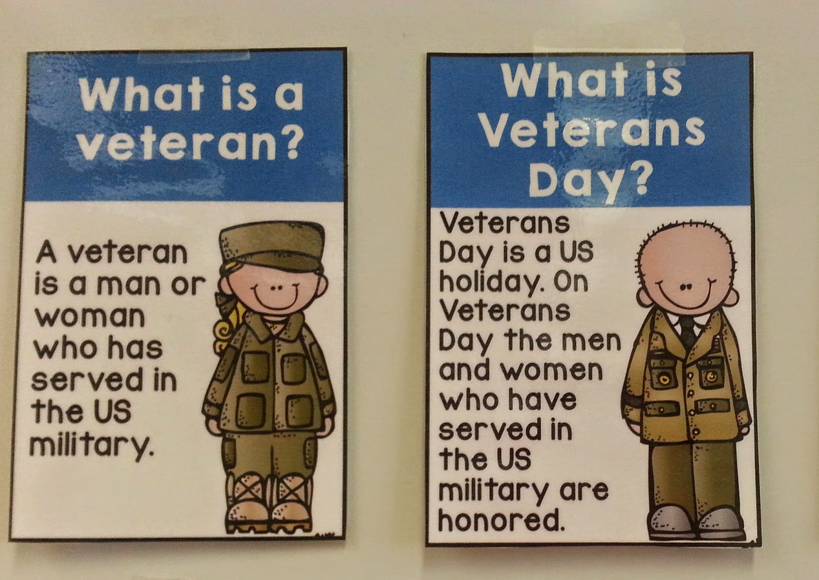 Classroom Freebies Too Veterans Day Posters