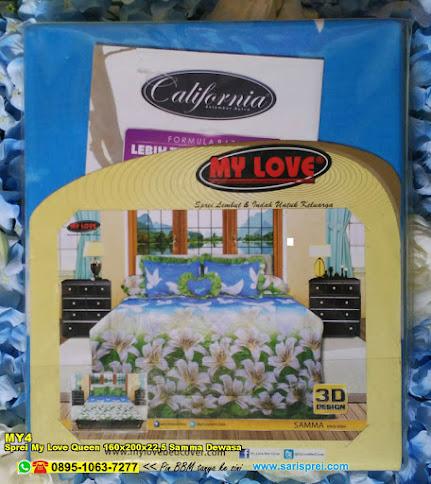 Sprei My Love Queen 160x200x22,5 Samma Dewasa