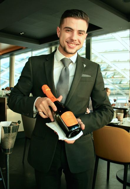 The wine waiter at Sky Garden