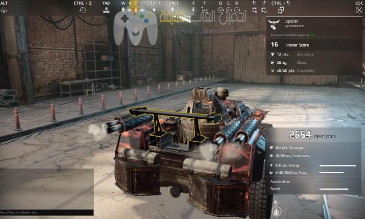 تحميل لعبة السيارات الحربية Crossout