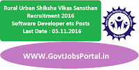 Rural Urban Shiksha Vikas Sansthan Recruitment