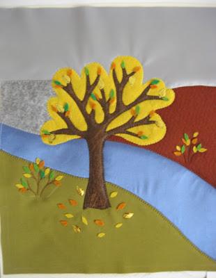 панно осень мк