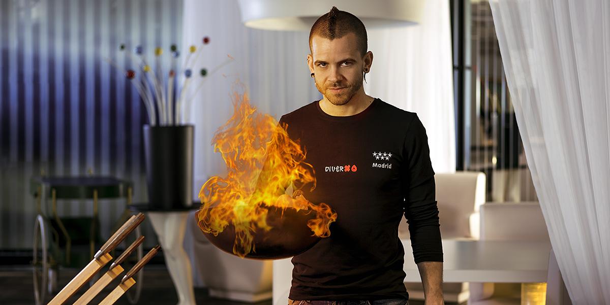 cocinero fuego dabiz muñoz diverxo