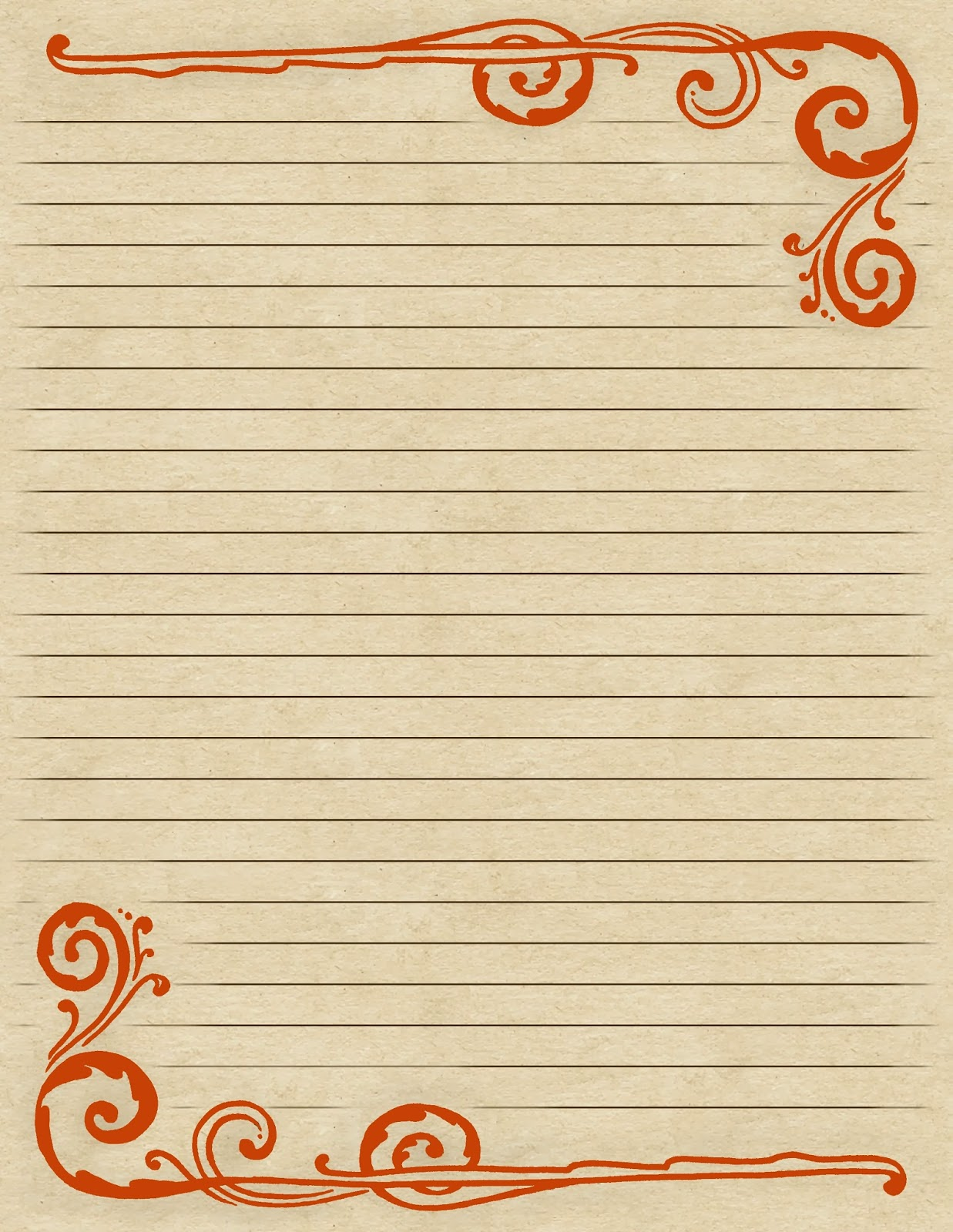 Lined border paper