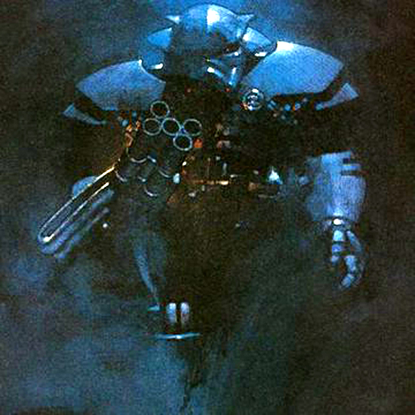 The Dark Trooper in an official ad for the STAR WARS: DARK FORCES video game.