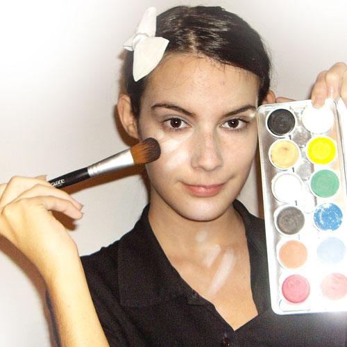 maquillaje facil para disfraz de zombie