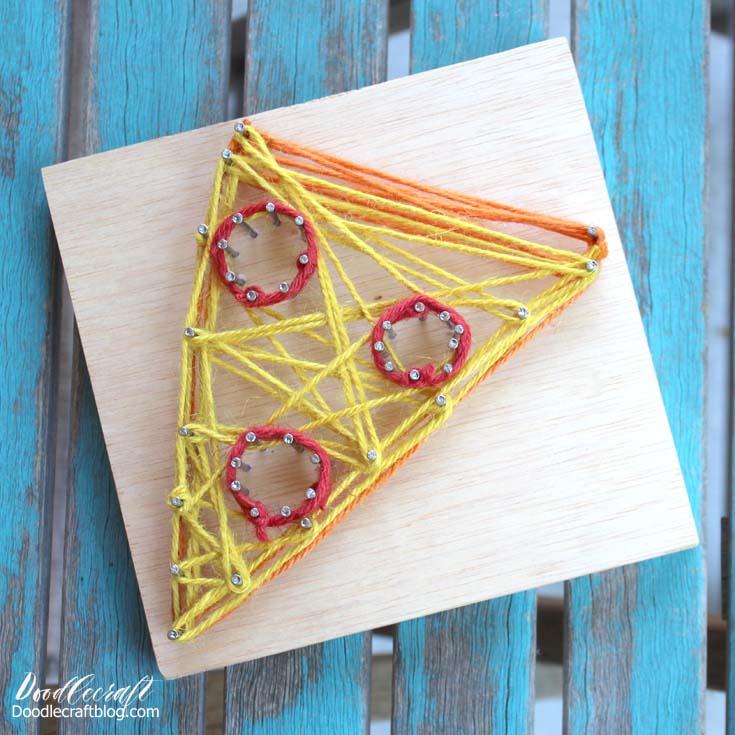 Doodlecraft Easy String Art Tutorial Heart Diamond