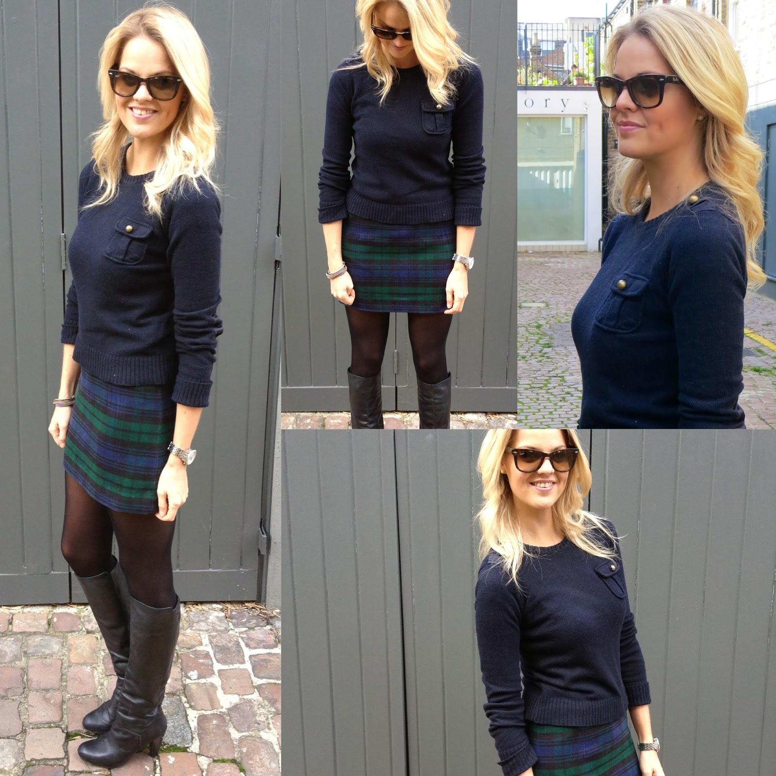 596e5cdfca How to wear: Tartan Mini Skirt Outfit - Dutchess Roz