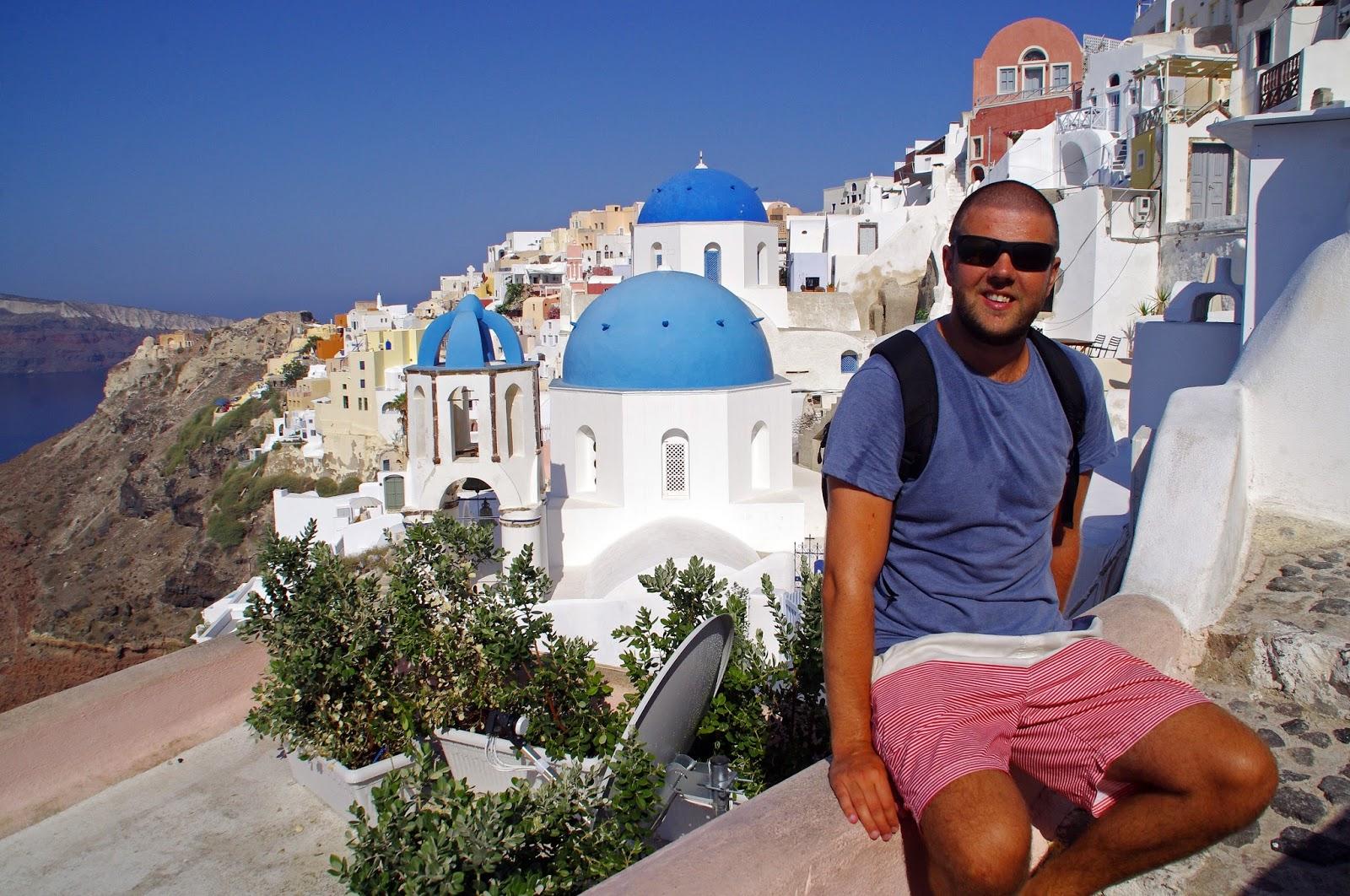 Male in Oia Santorini