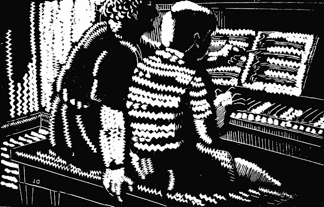 Julius Griffith, piano lesson, zigzag