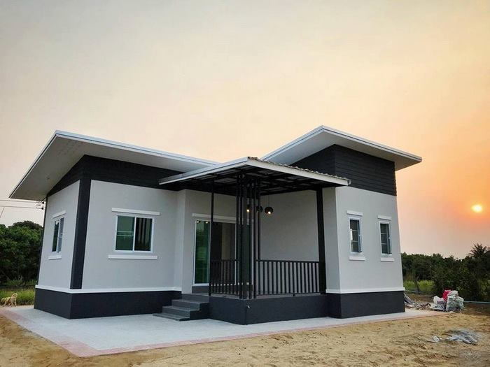 If you think that beautiful and amazing houses could only be built in large lot areas, you are mistaken. These 5 house designs prove that great things can come from small packages. Let's check them out! These houses were built in areas with less than 100 square meters of living space and consist of 2-3 bedrooms, 1-2 bathrooms, living room and a kitchen. It is suitable for small families.