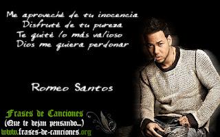 Frase machista de la canción Perjurio de Romeo Santos