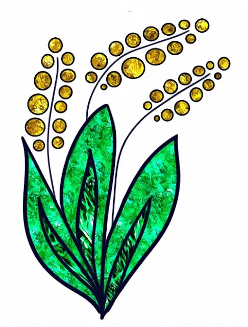 Цветок, нарисованный на графическом планшете
