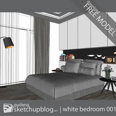 Interior Scene | White Bedroom 001 - gudang | sketchupblog