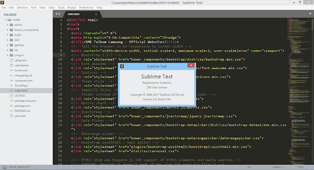 Download Sublime text 3 build 3143 Full License Keys