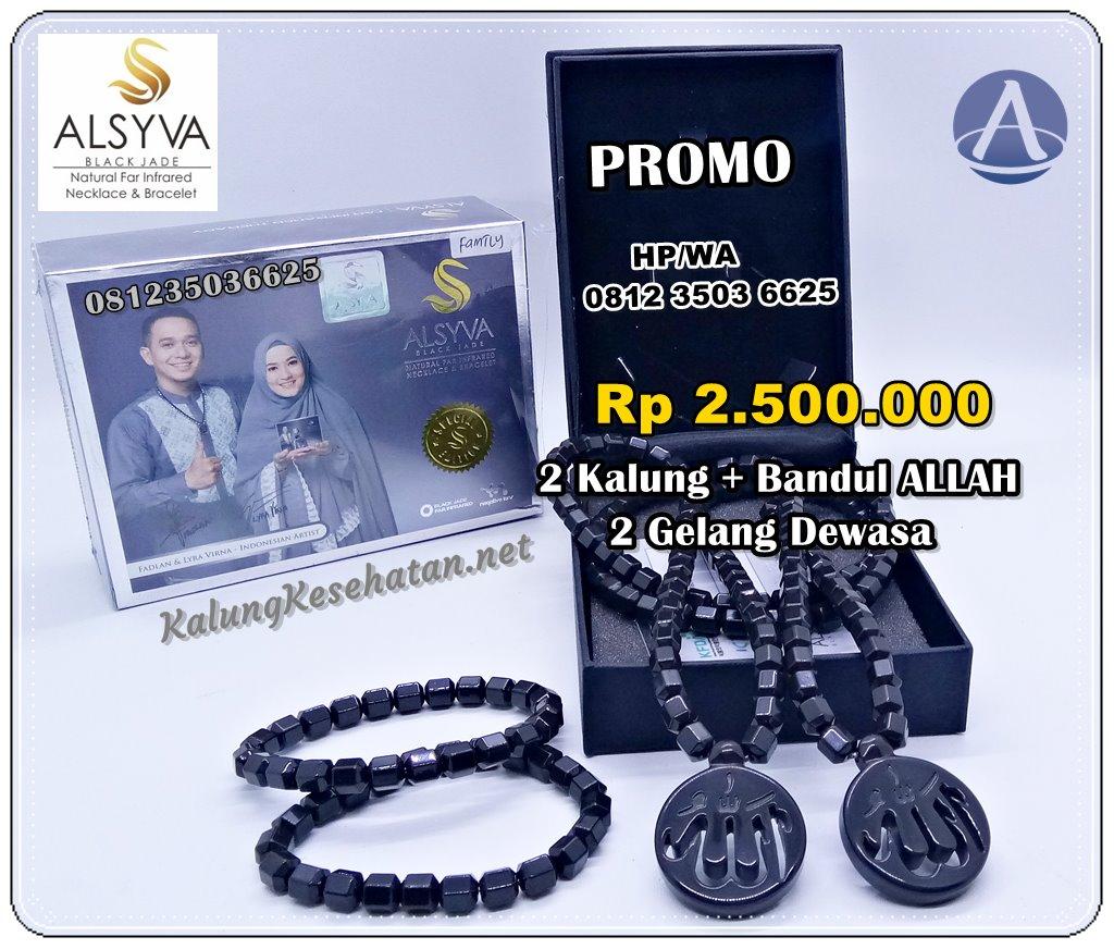 Kalung Kesehatan Black Jade Ginsamyong Asli Original Murah Alsyva