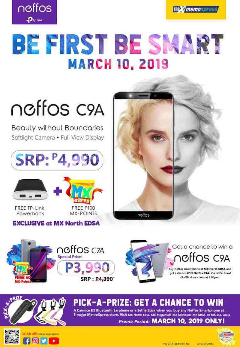 Neffos' promo last March 10, 2019