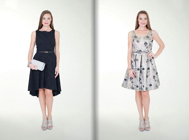vestido elegante corto negro damas 2017