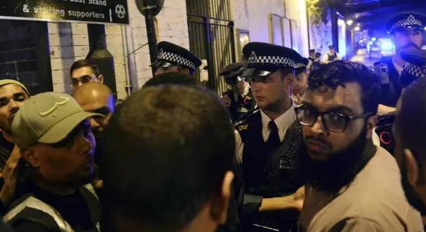van driver crushes muslim worshippers