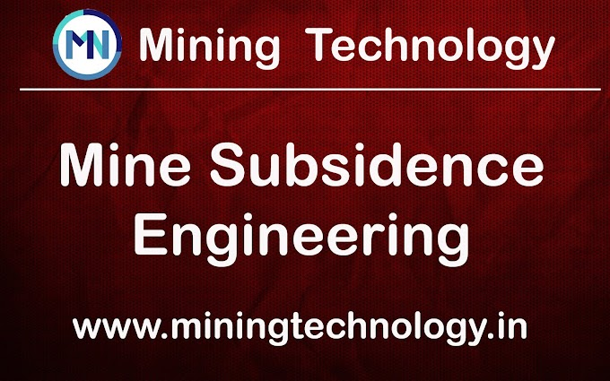 MINE SUBSIDENCE ENGINEERING