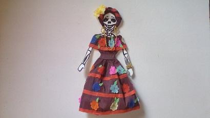 Manualidades Eliza Como Vestir Calaverita De Papel Crepe