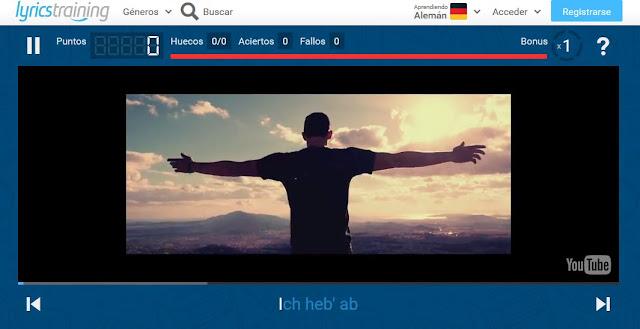 http://es.lyricstraining.com/de/play/sido-andreas-bourani/astronaut/HnMdGuRsln#k6