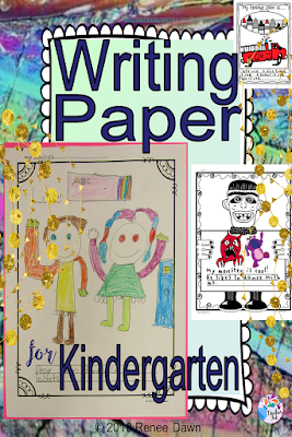 Writing Paper for Kindergarten has fun, stylish paper for any lesson, kindergarten themes, seasons, holidays, and occasions.  Four pages of Writing Prompts, How to Differentiate, How to Jazz Up your Writing, How to Make a Booklet, Writing Tips for Gifted, RTI and ELL Students.