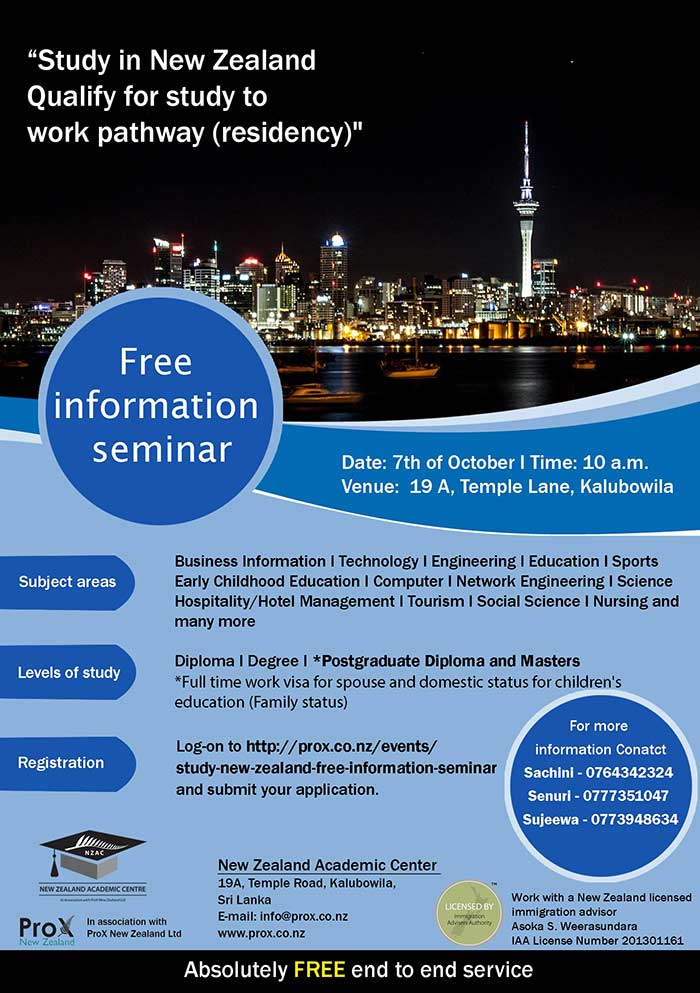 ProX New Zealand | Study in New Zealand Free Information Seminar.