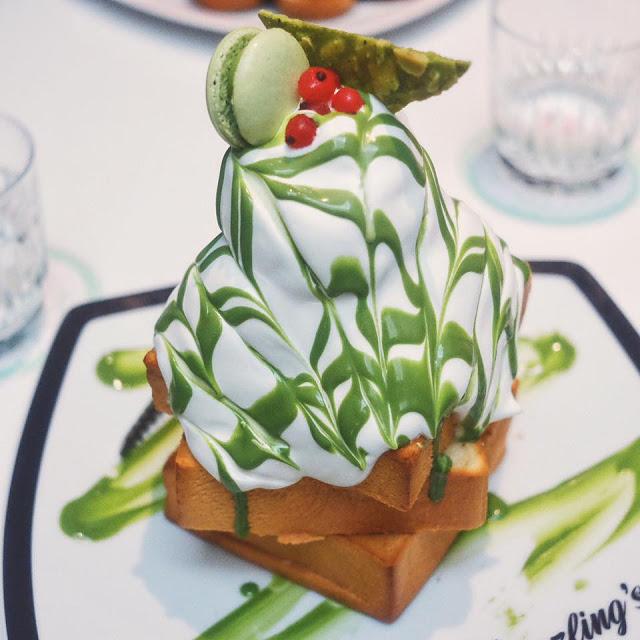 Matcha Azuki Honey Toast