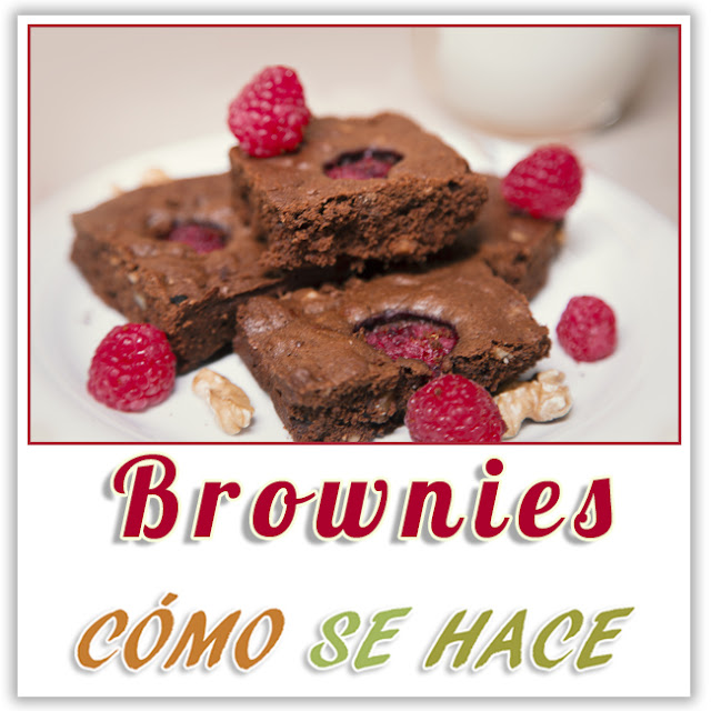 BROWNIES CON  FRAMBUESAS