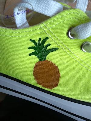 diy malowanie butów farbami krok po kroku