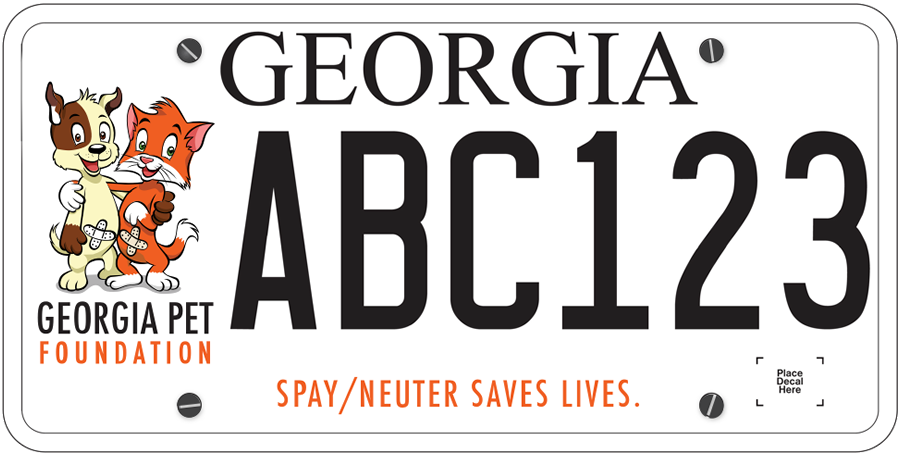 Buy This Tag to Support GA Spay/Neuter!