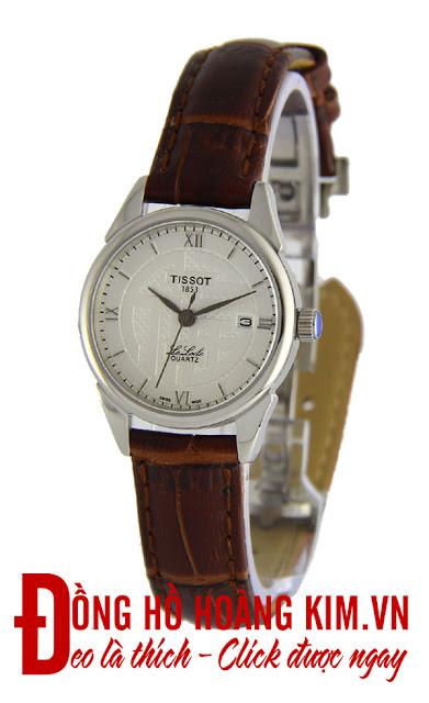 Đồng hồ nữ Tissot dây da giá rẻ dưới 1 triệu