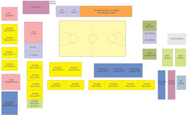 cara membuat site plan sekolah