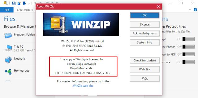 WinZip PRO 21.5 Serial Key